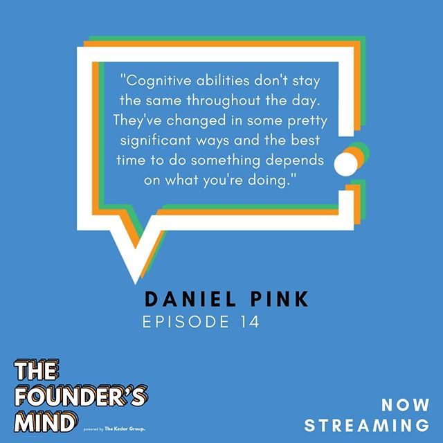 Ever wonder why it's hard to certain tasks at different times of the day? Daniel Pink spent time researching how our 🧠 operates throughout the day and shed some 🔦 on this in episode  1️⃣ 4️⃣ .