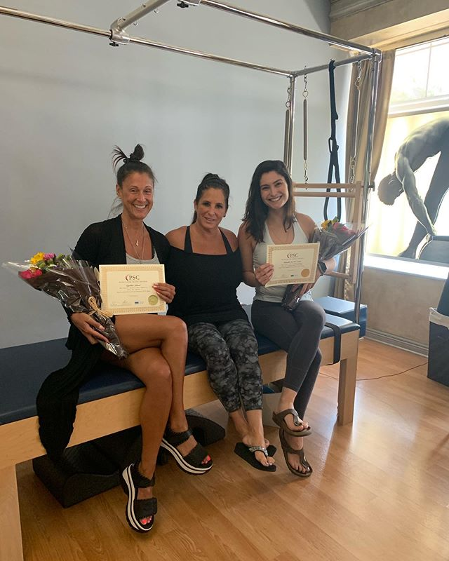 Congratulations to Cindy and Danielle for passing their Pilates Certification exam today! They are now officially certified! Big thank you to owner and master trainer Luann Brusa for conducting this year's teacher training.
