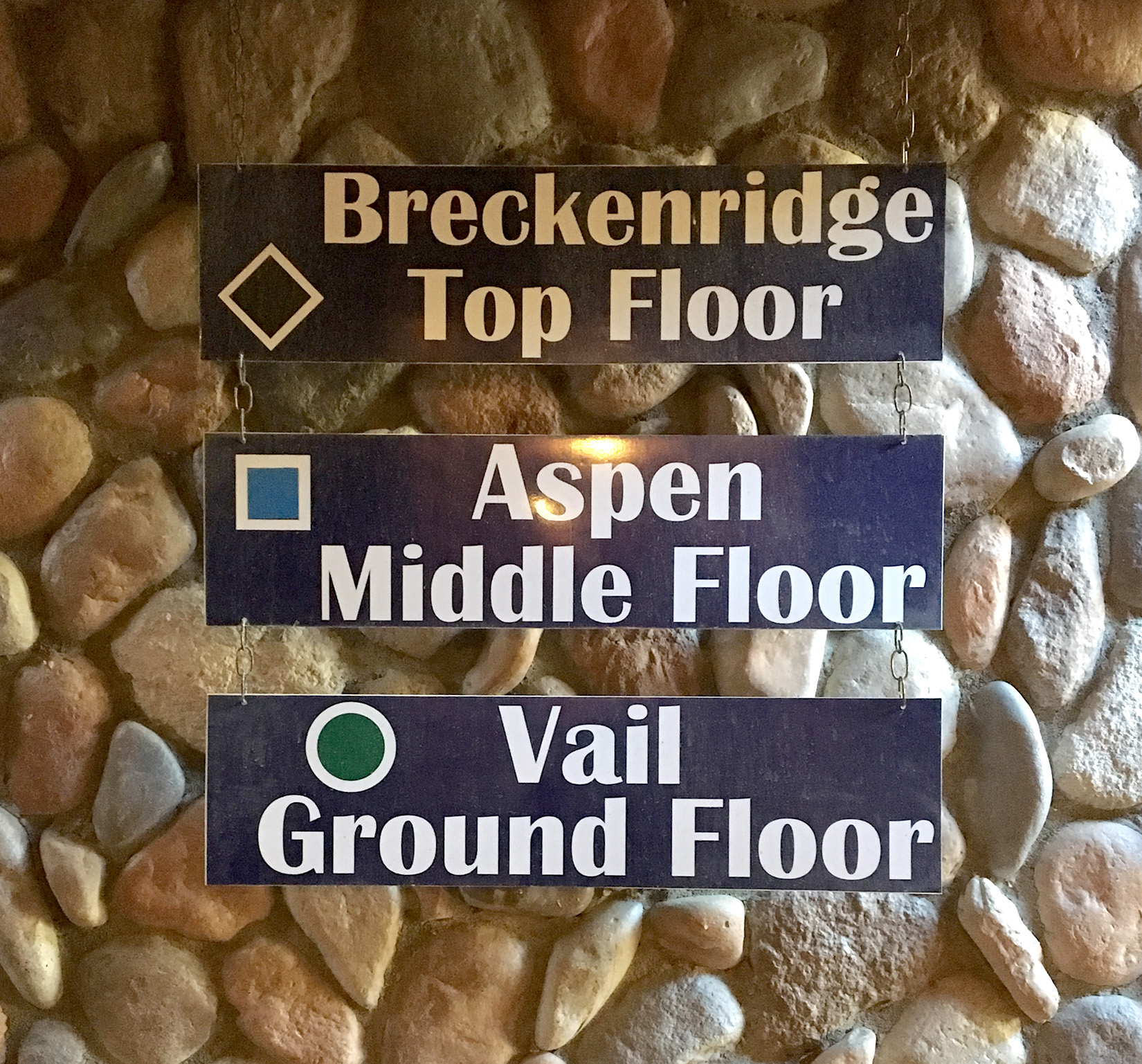 Signage at the base of the three story building will help you find your unit