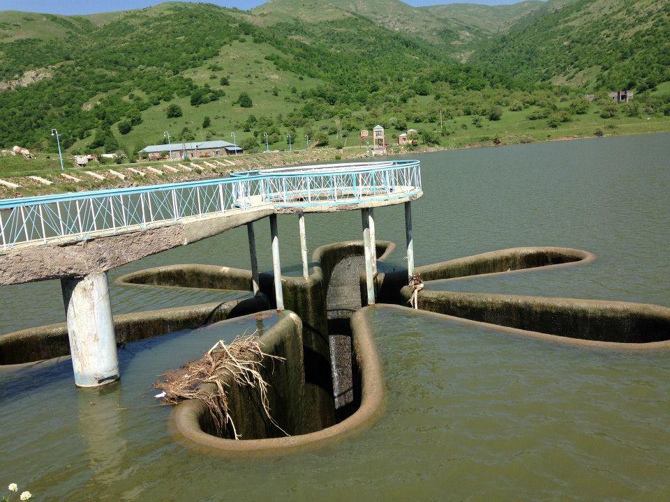 Kechut reservoir, which feeds Lake Sevan