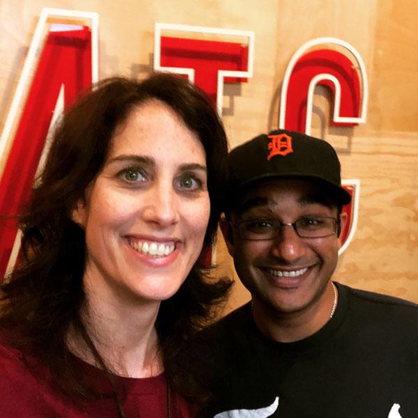 Erin with SWB guest Muneesh Jain.