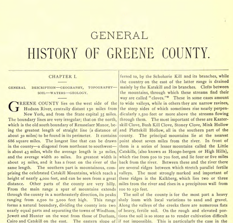 General History of Greene County