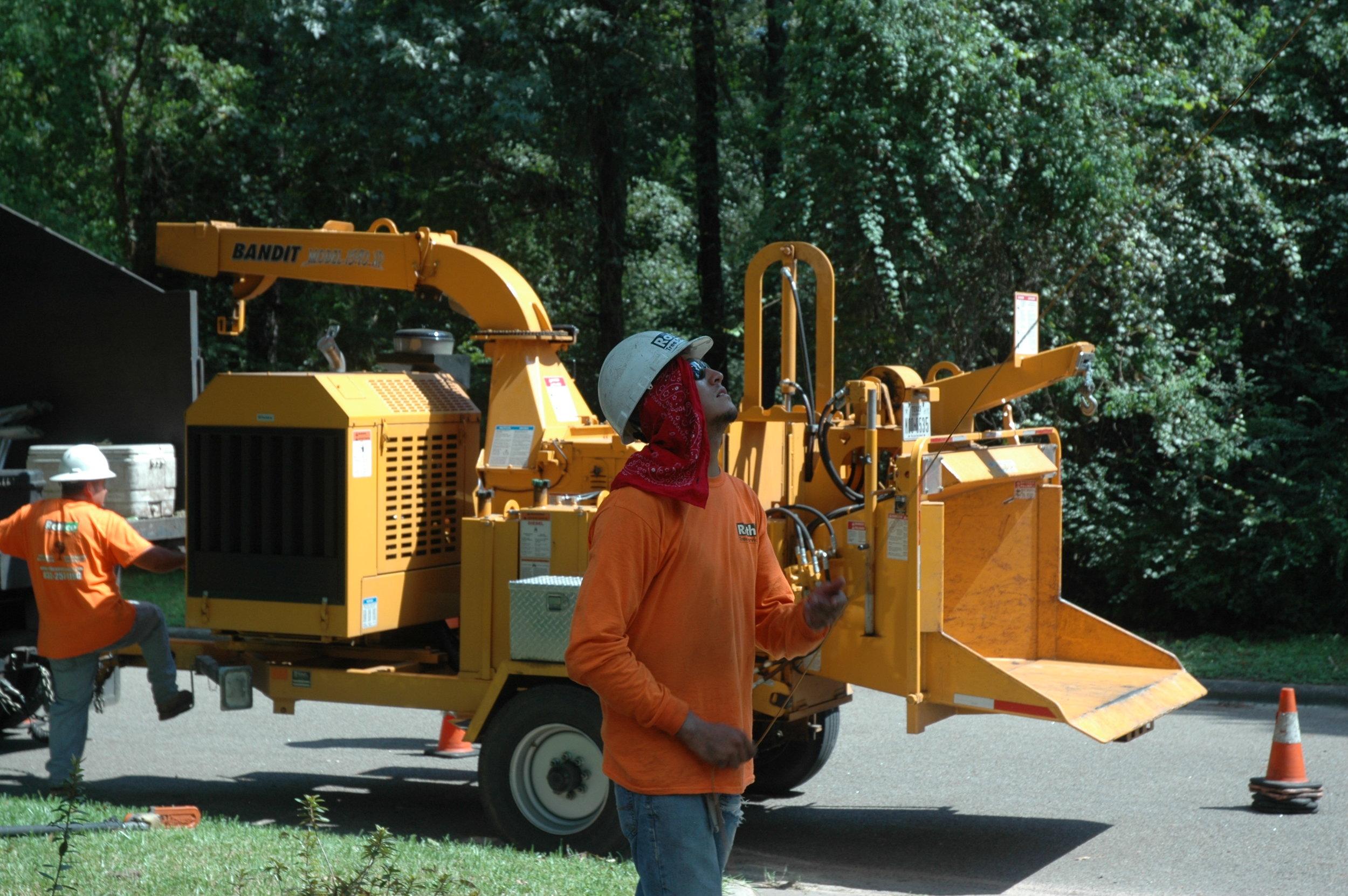 wood chipper loader mulch