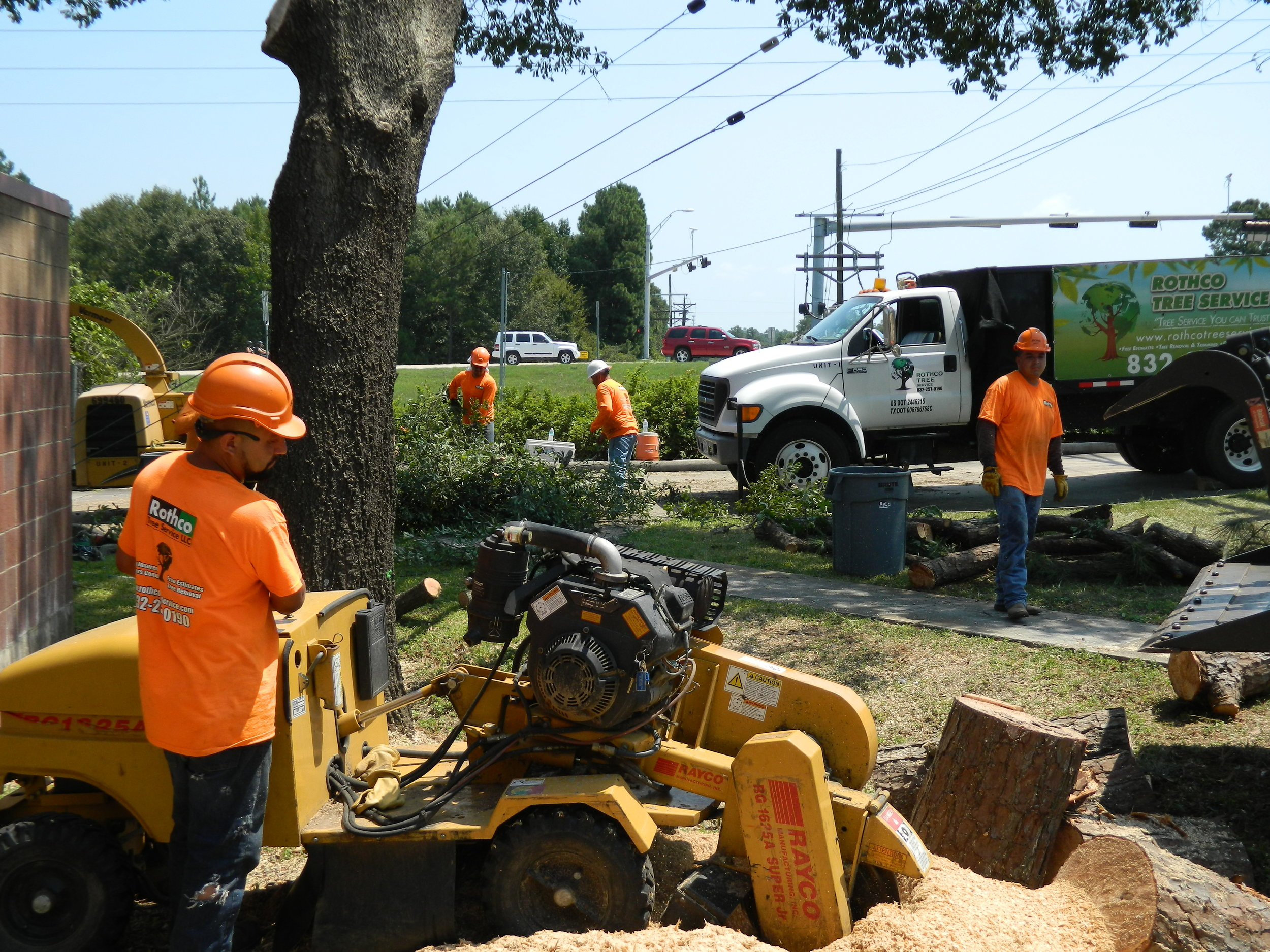 Rothco Tree Service - Prct 3 Fire station multiple tree removals and stump grindings -  Montgomery, TX