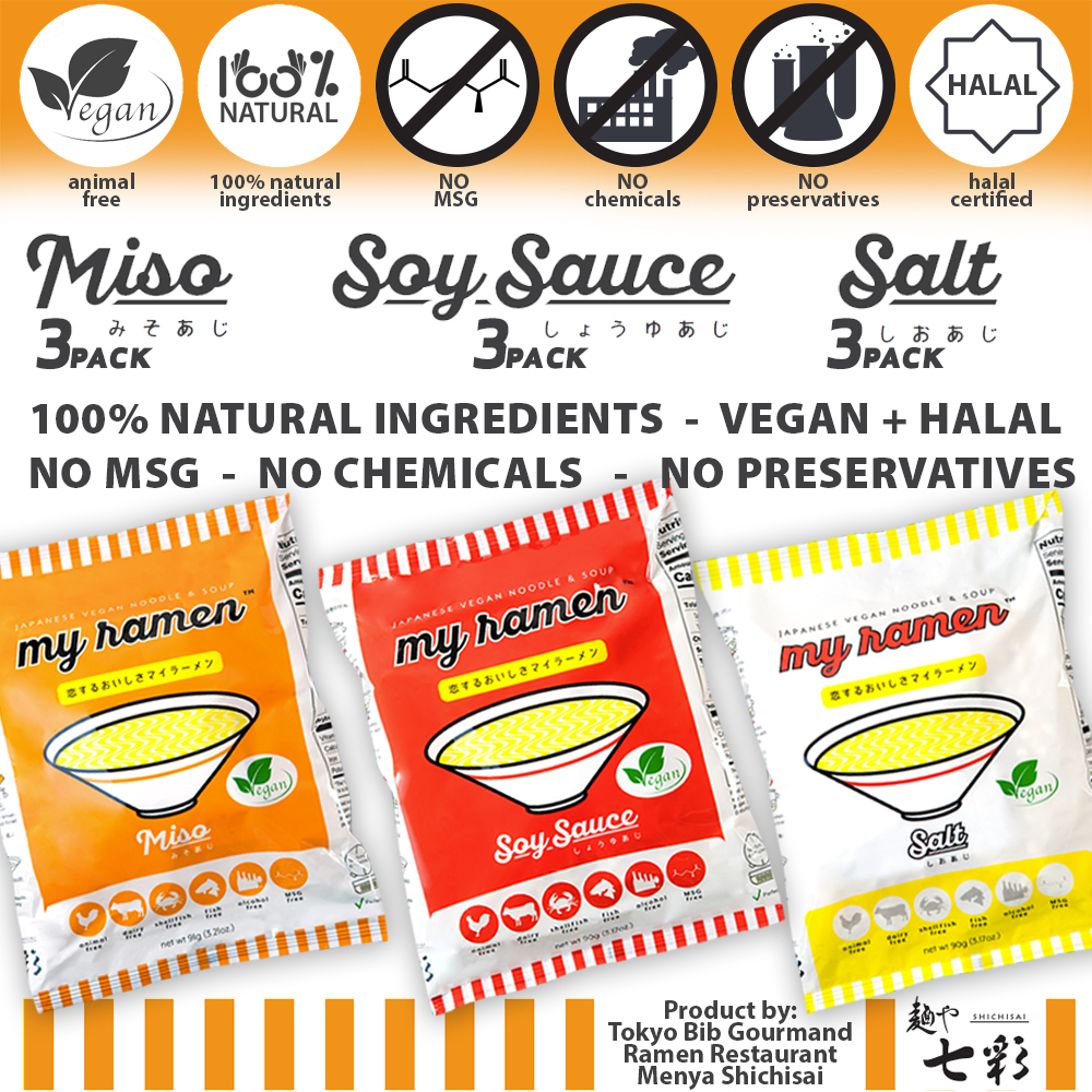 MyRamen 100% natural healthy ramen 9 Pack Soy Sauce Miso Salt Flavours.jpg