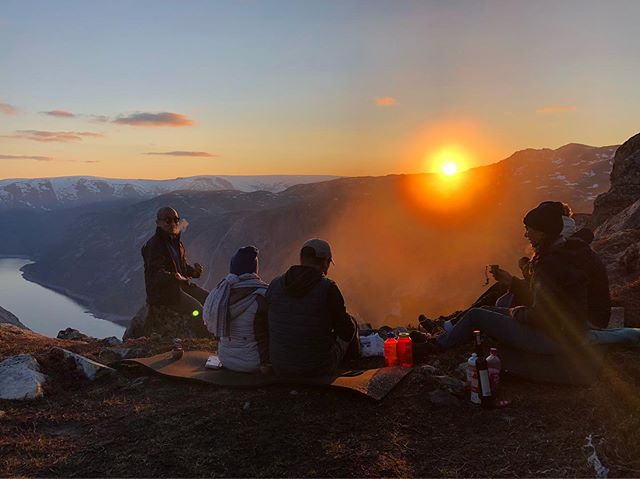 Hike like Norwegians — hike with us on our overnight trek to Trolltunga.  #trolltunga #trolltungaadventures  #mountainsunset #nofilter #hikingadventures #norway