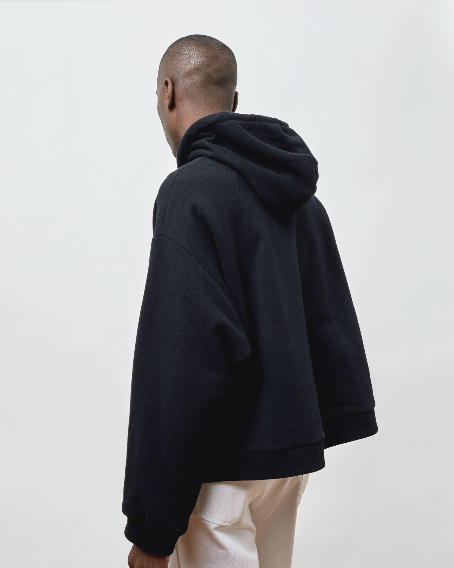 Shop Designer Oversized Hoodie By One DNA. Black.
