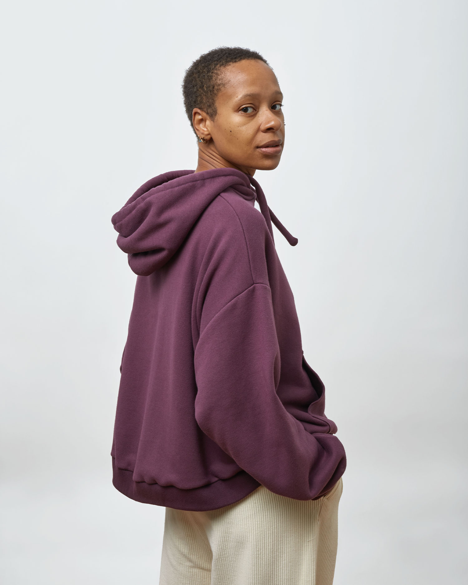 Shop Designer Oversized Hoodie By One DNA. Plumb.