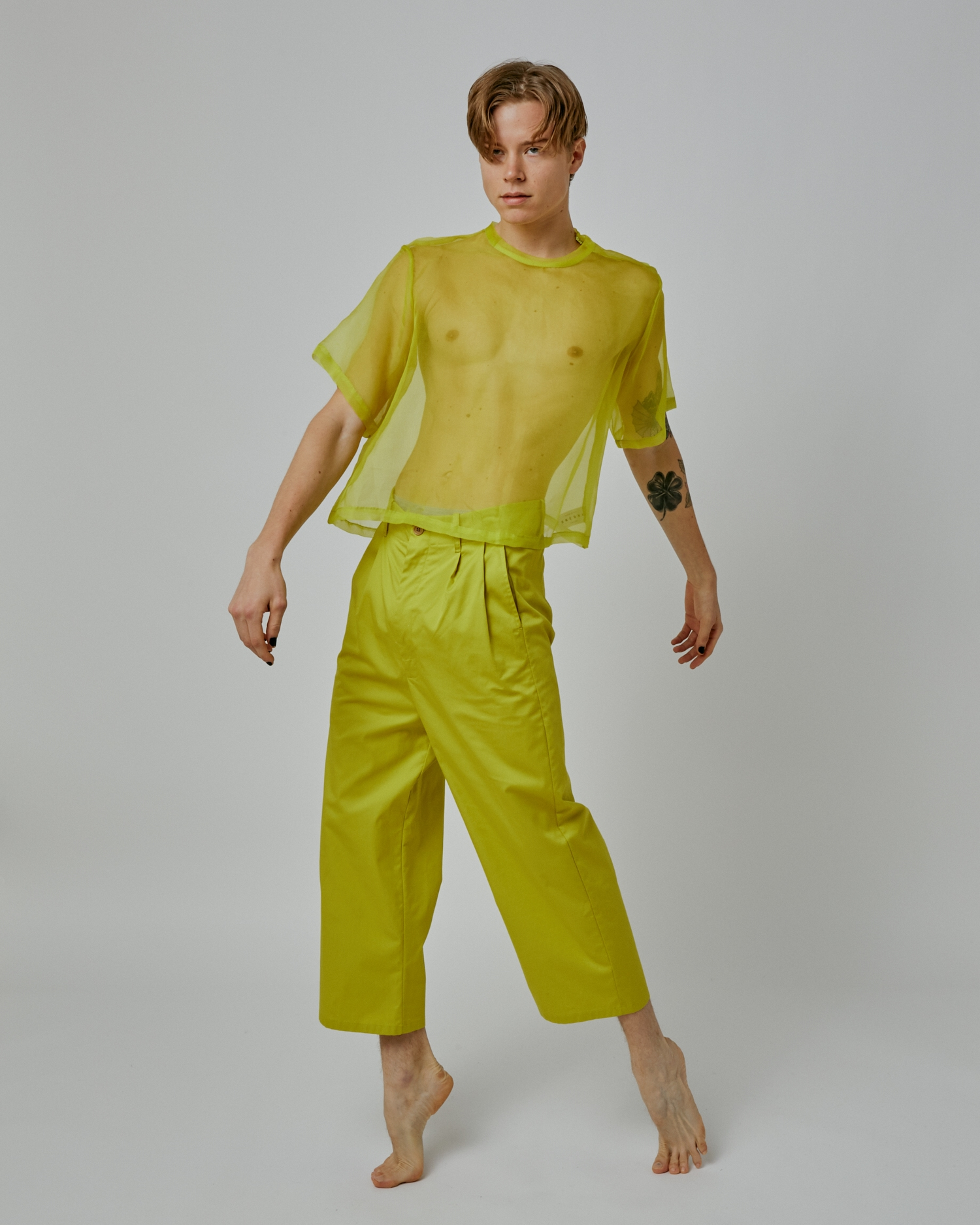 Shop Sale Paperbag-Waist Pant. 100% Cotton. Made In USA. By One DNA.