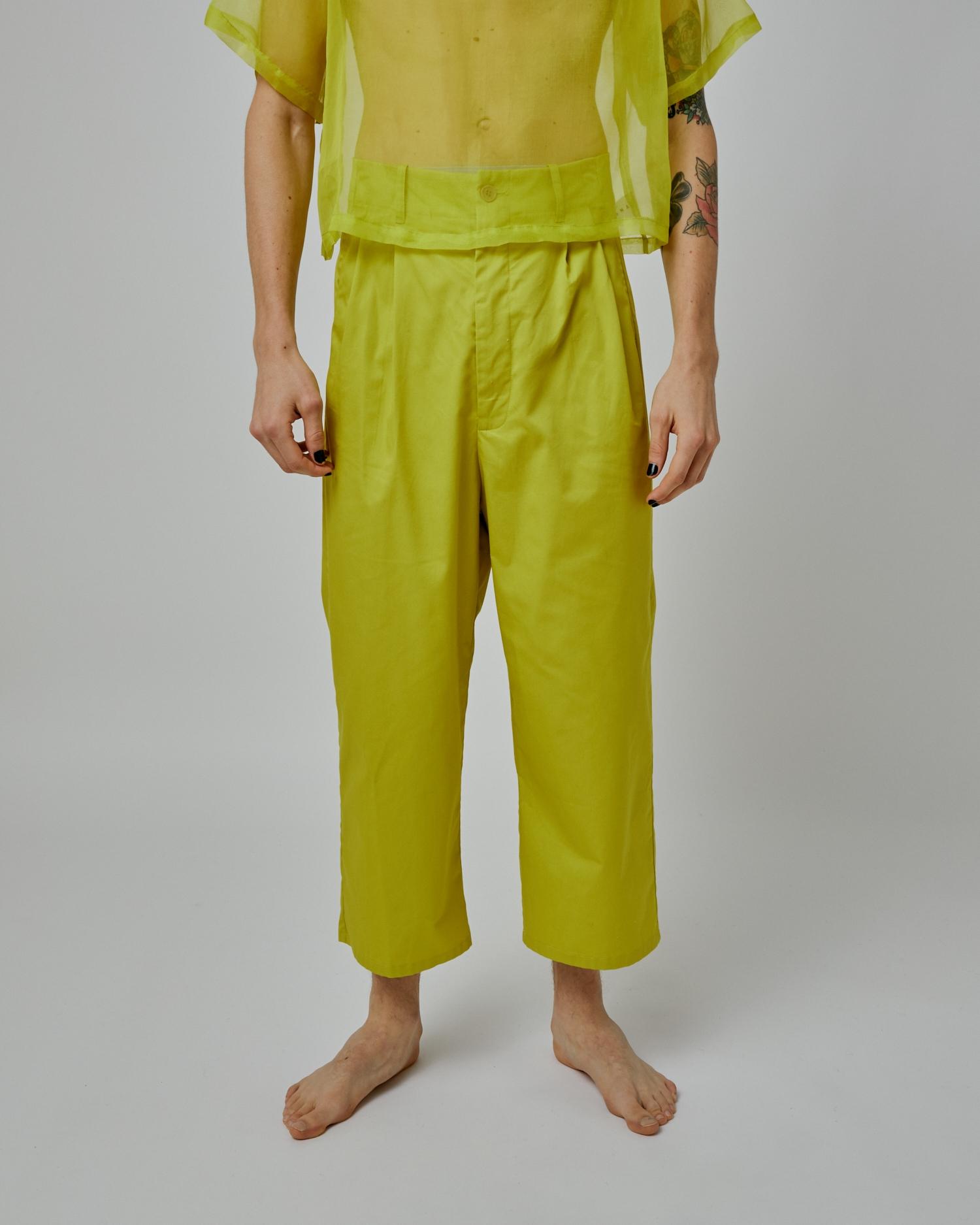 Gender-Neutral Paper-Bag Waist Pant By Emerging Designer Brand One DNA