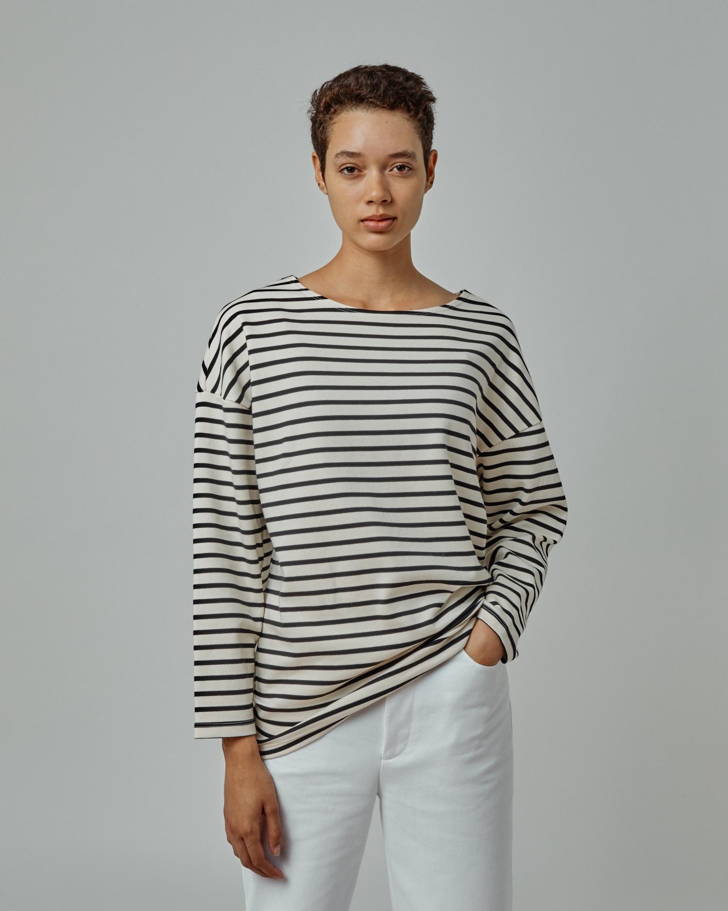 Striped Boat Neck Top