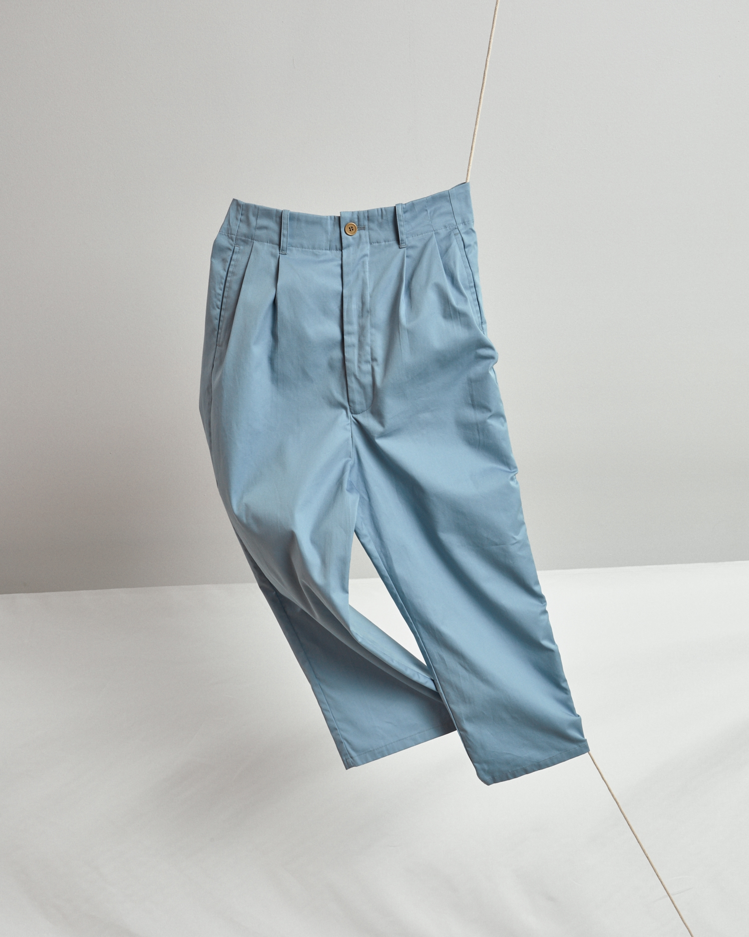 Shop Cropped, Wide-Leg Pant In Summer Weight Blue By One DNA