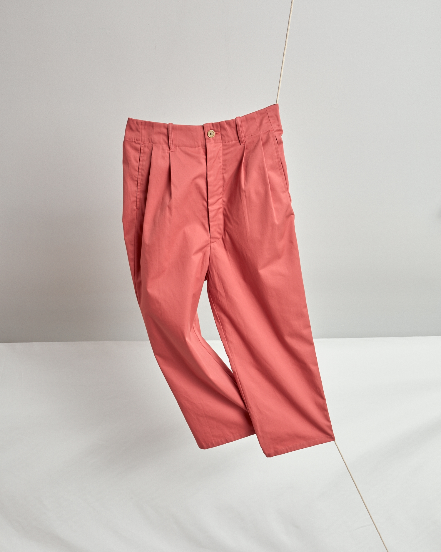 Shop Cropped, Wide-Leg Pant In Summer Weight Coral By One DNA