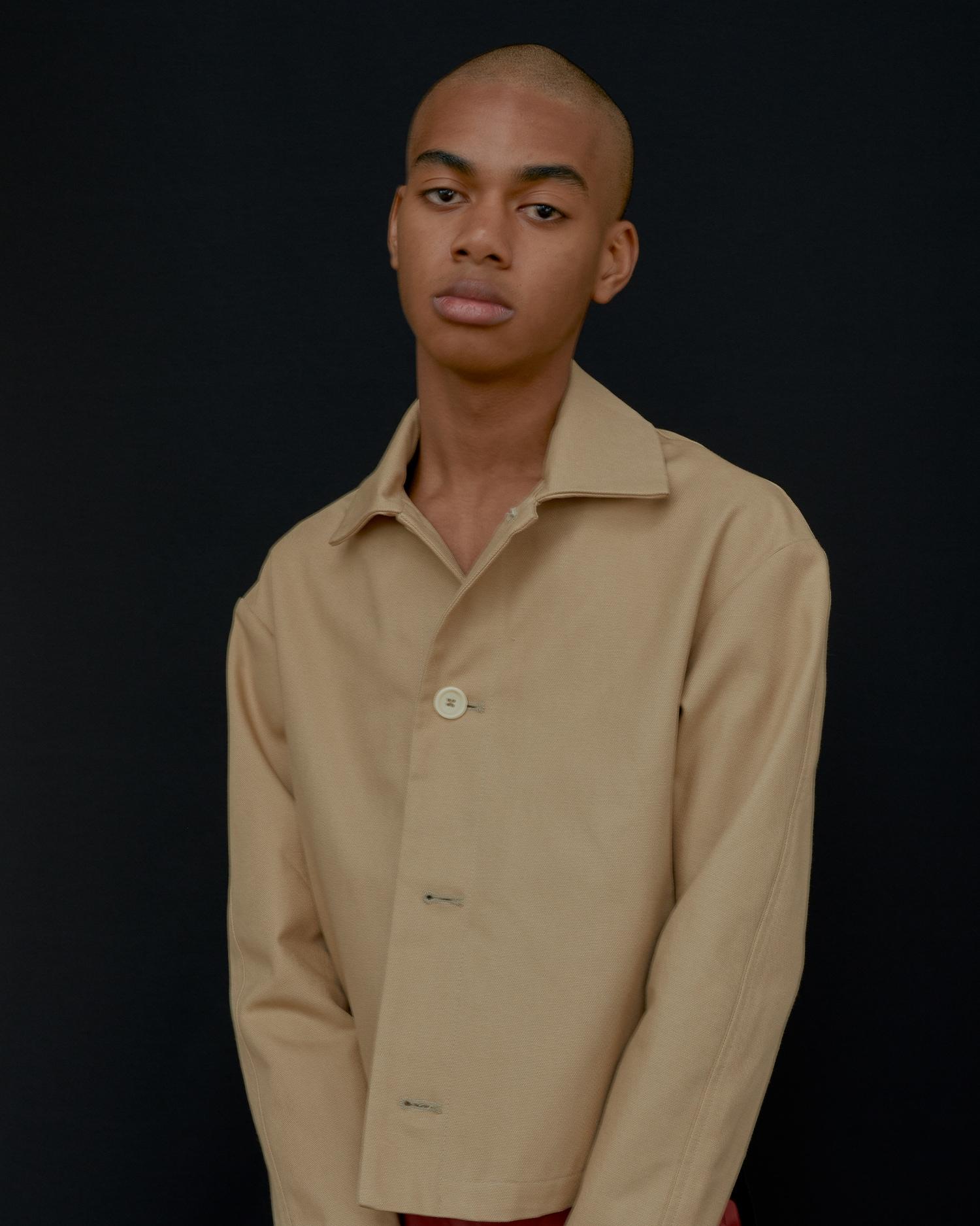 Shop Designer Jacket In Khaki