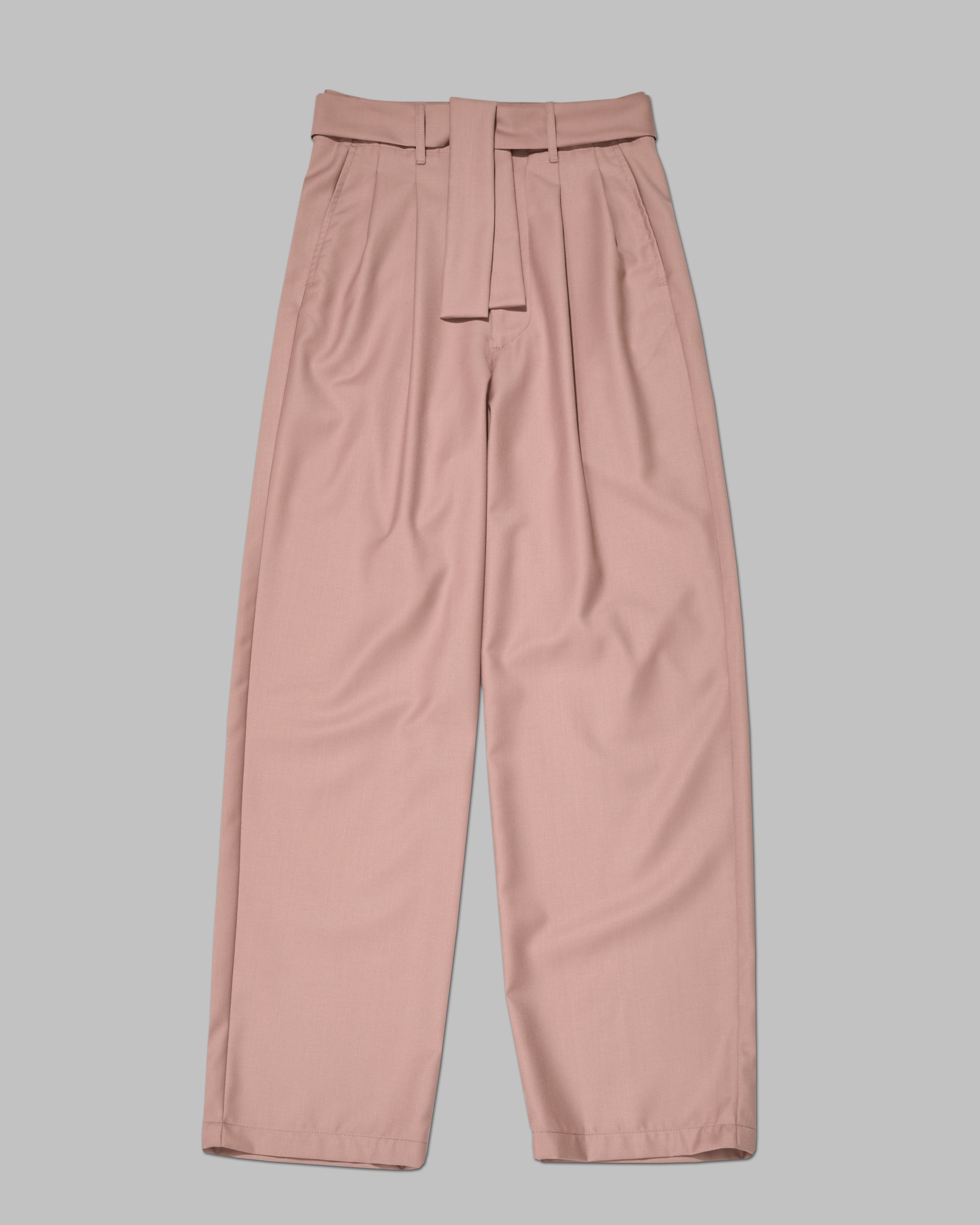 Shop Best Gender Neutral Pants. High Waisted, Pleated Pant In Pink.