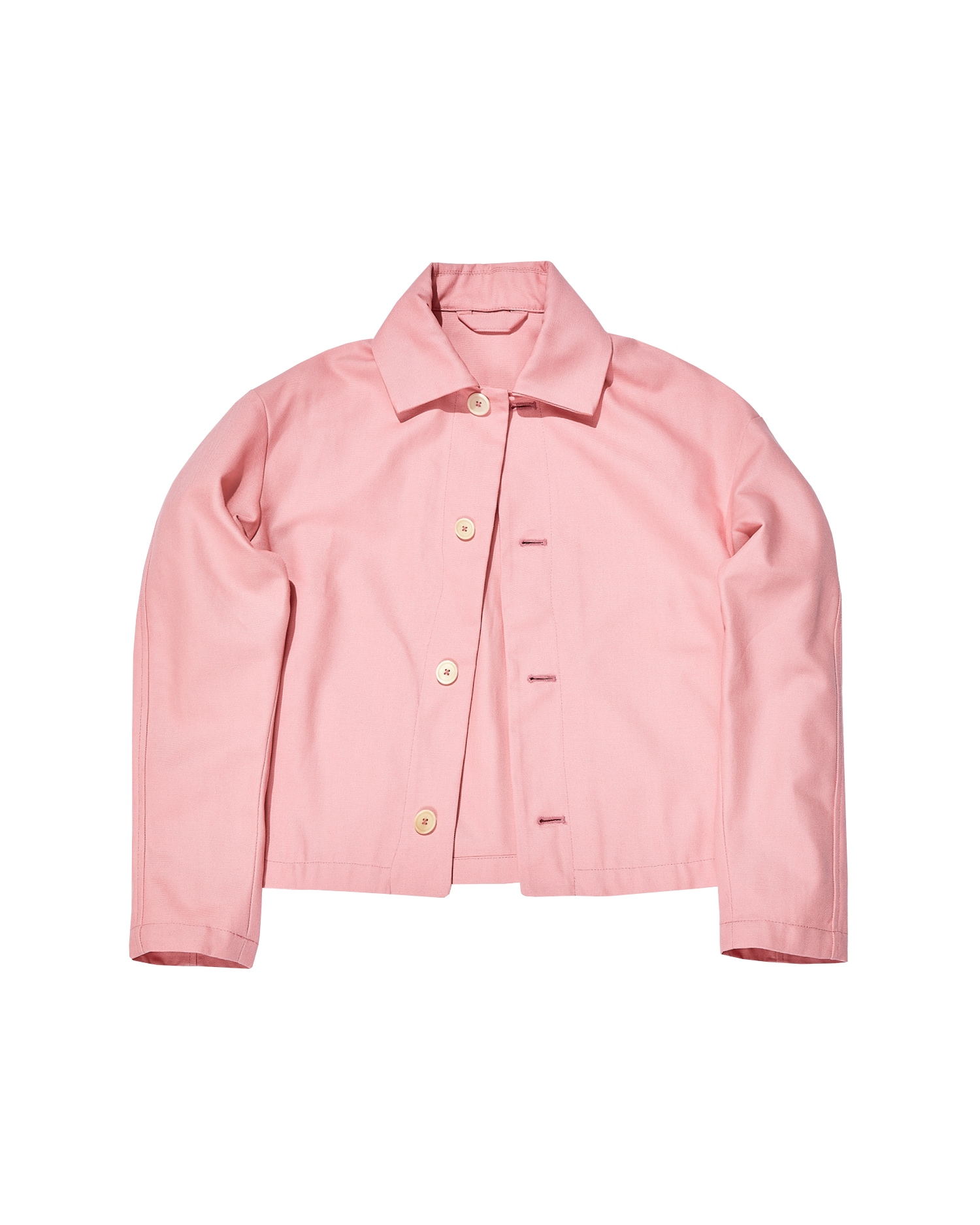 Shop One DNA Unisex Worker Jacket In Pink Duck Canvas