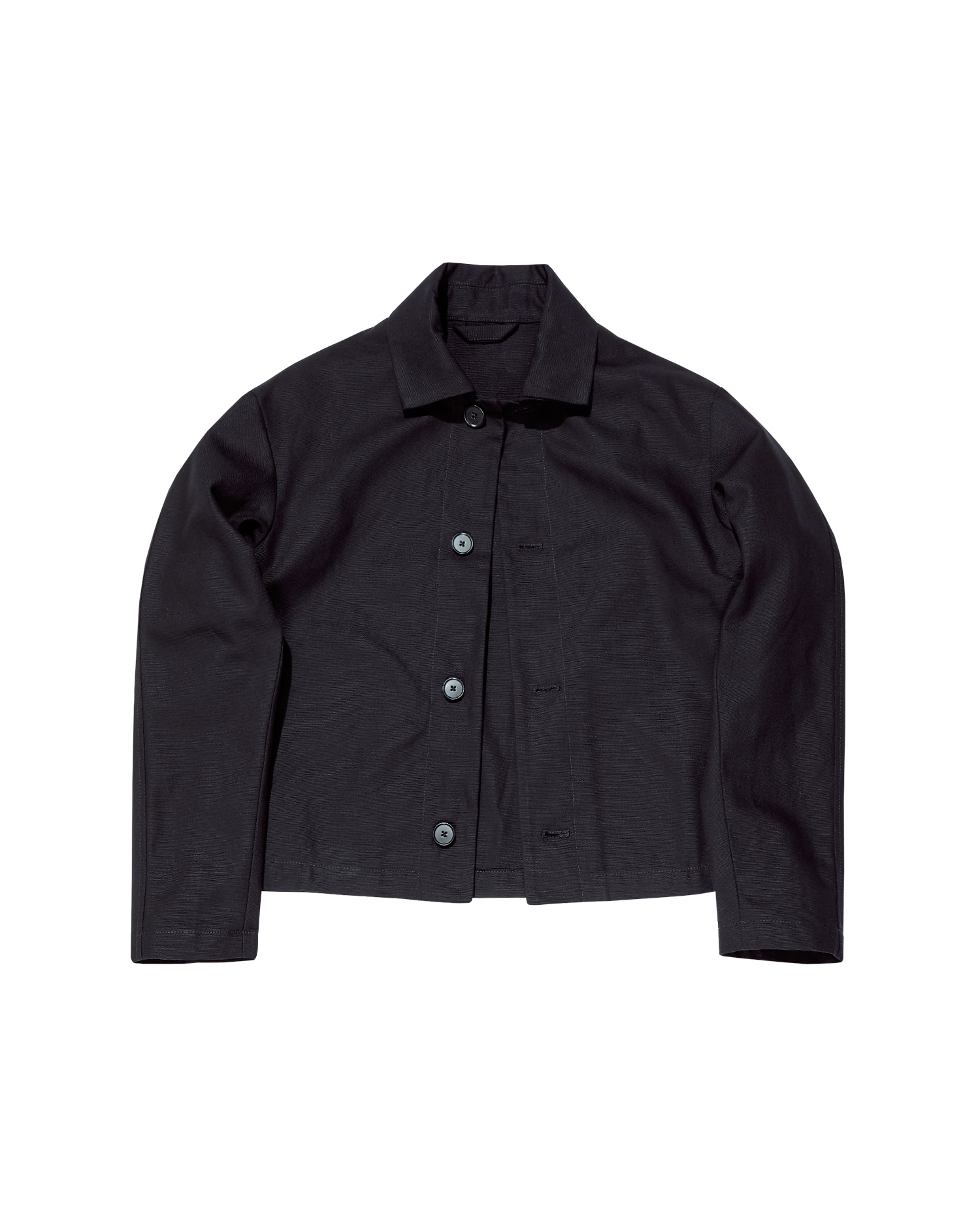 Shop Designer Worker Jacket In Black Canvas By One DNA