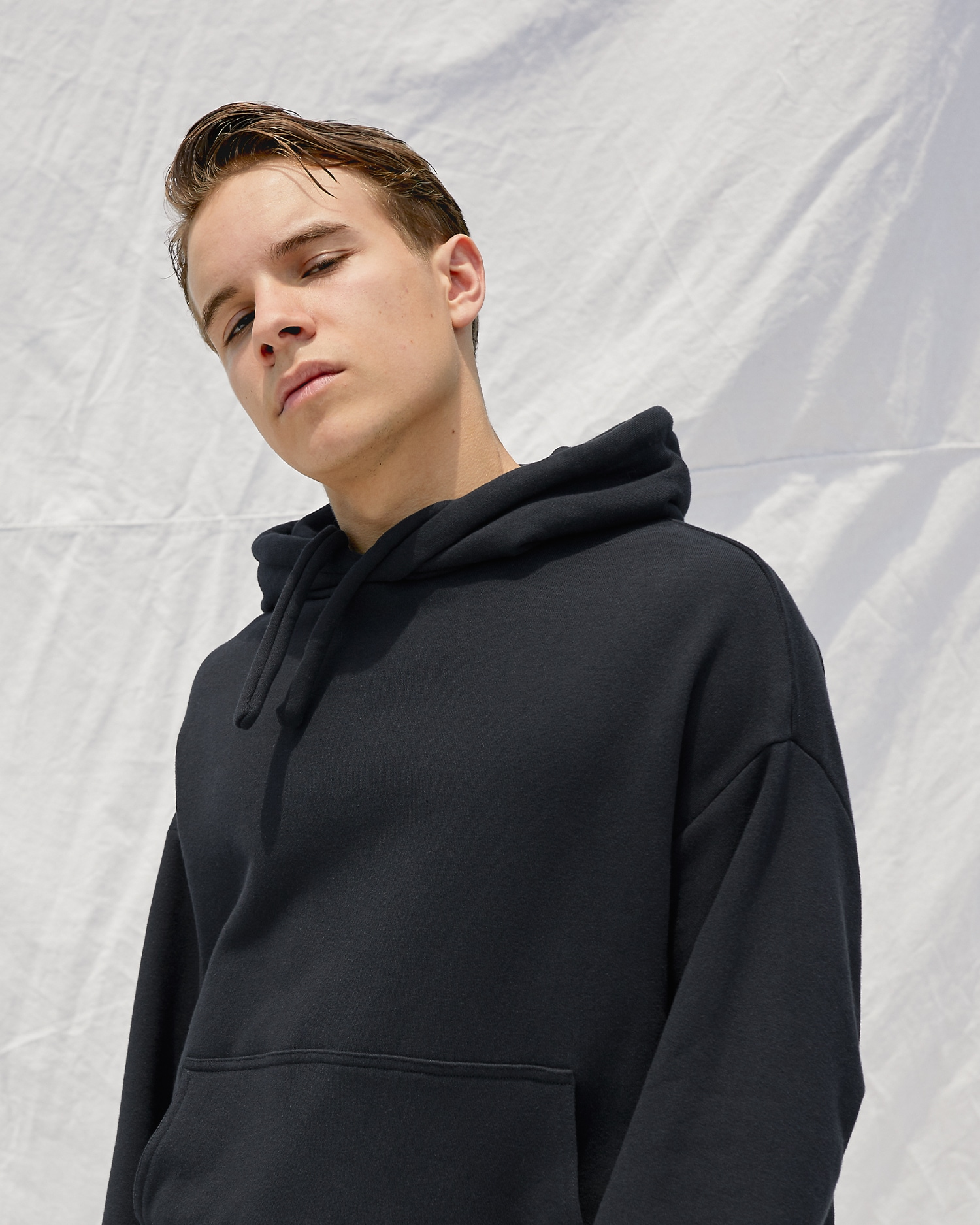 Shop Black Oversized Hoodie by One DNA