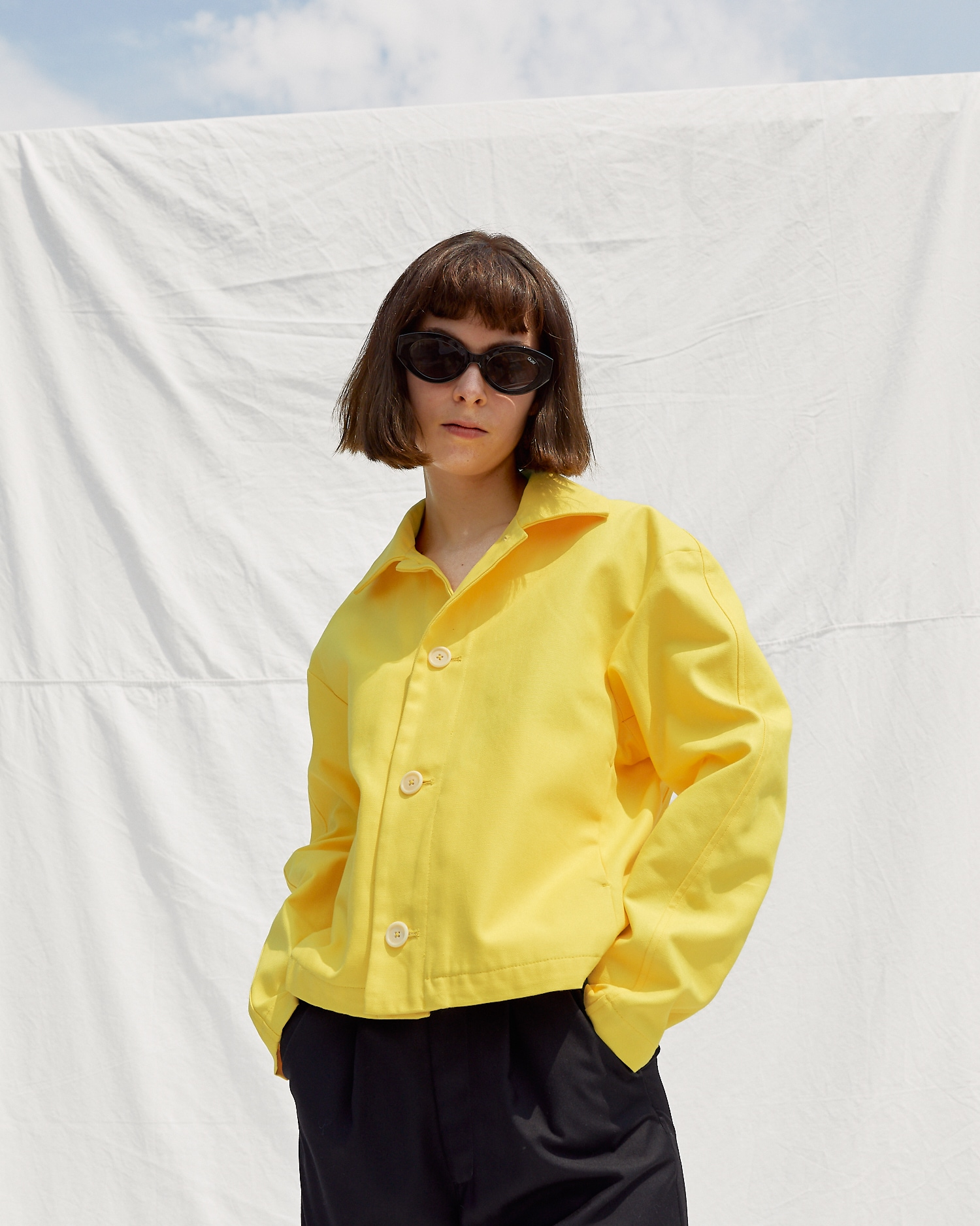 Shop Year-Round Jacket in Yellow by One DNA
