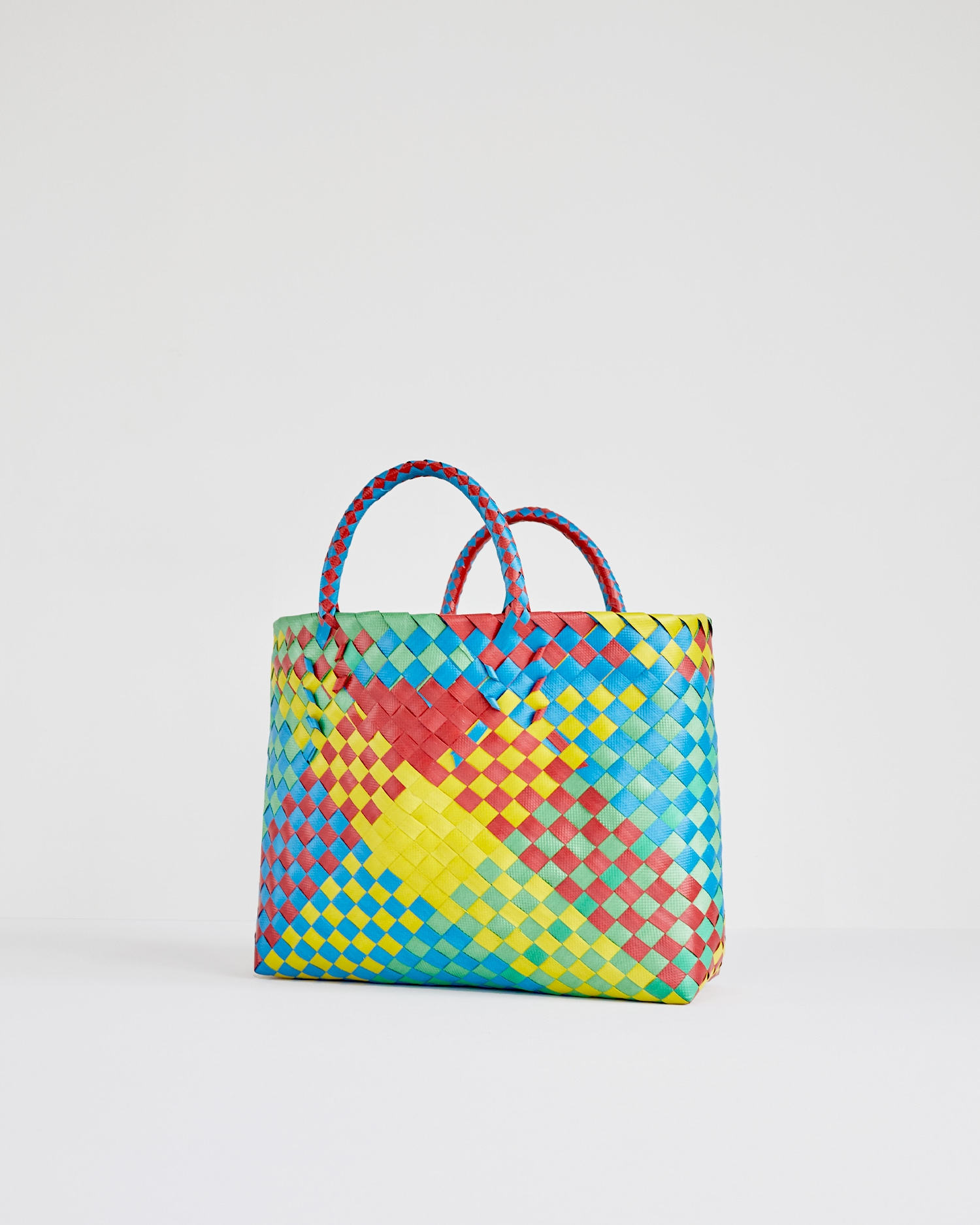 Shop Multi Color Woven Basket Bag at One DNA's Online Store