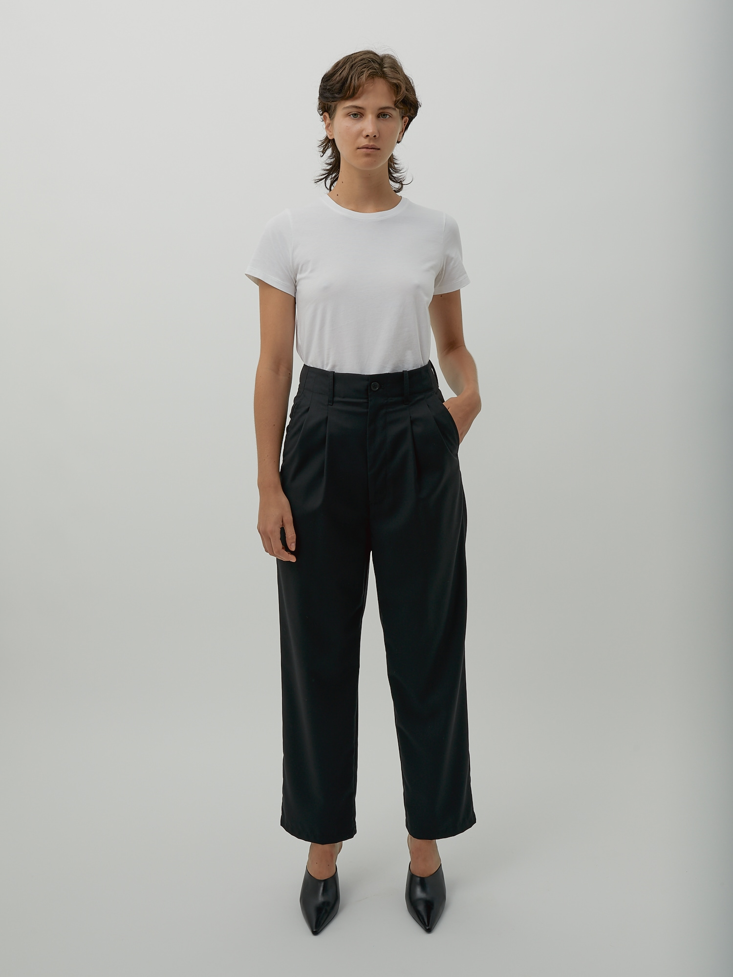 Black High Waisted Wide Leg Pants by One DNA