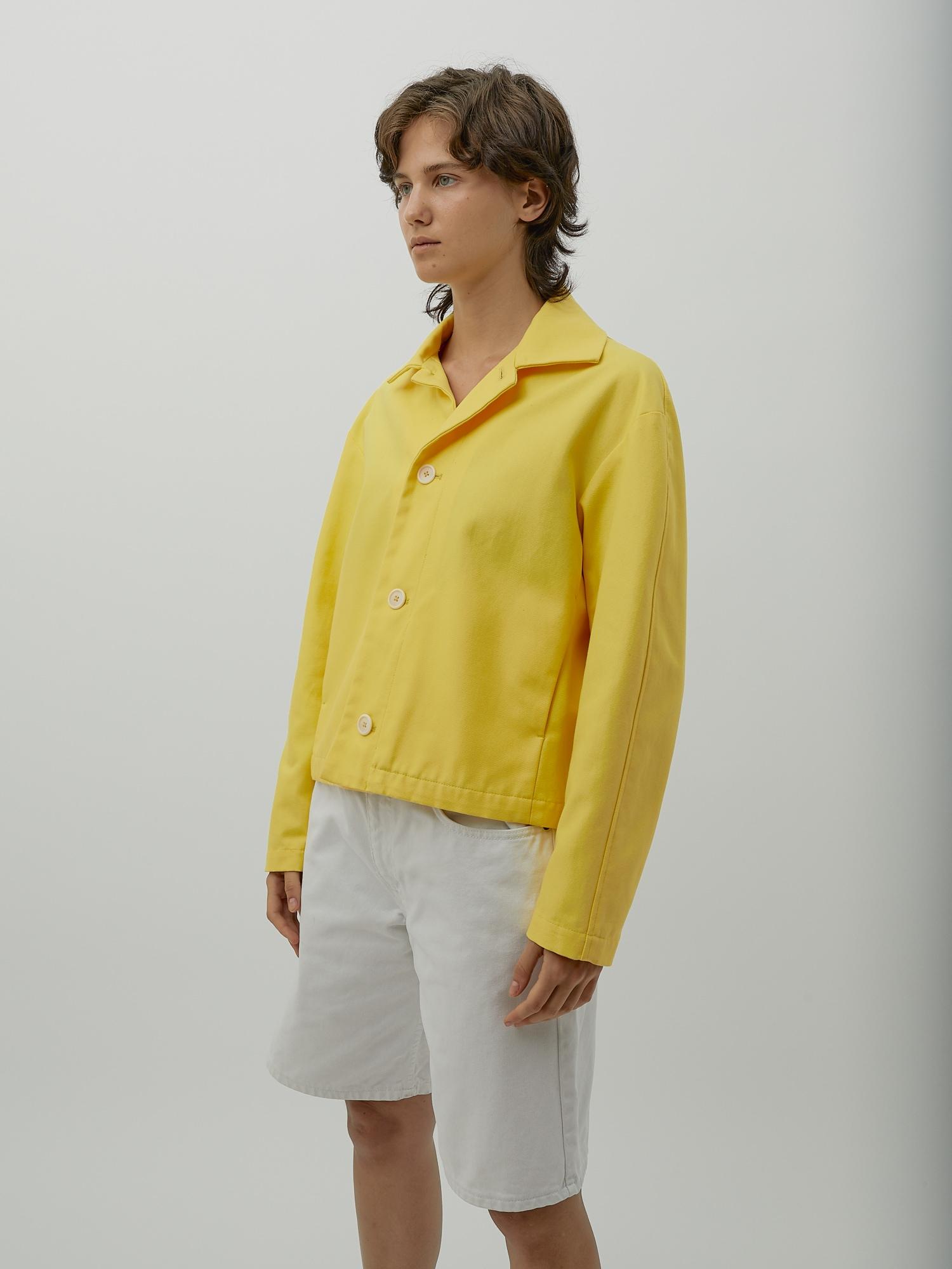 Gender Neutral Jacket in Yellow