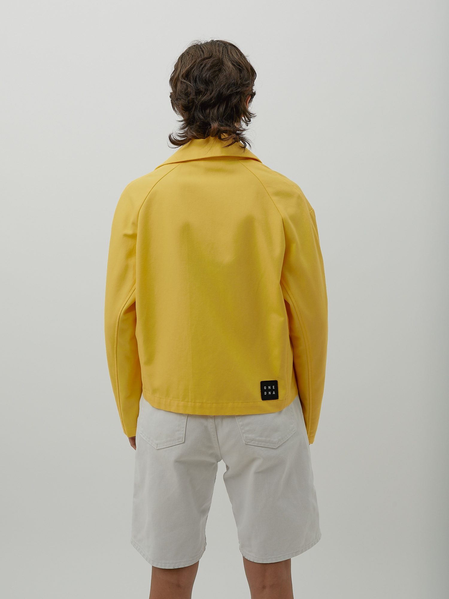 Gender Neutral Jacket in Yellow Canvas by One DNA