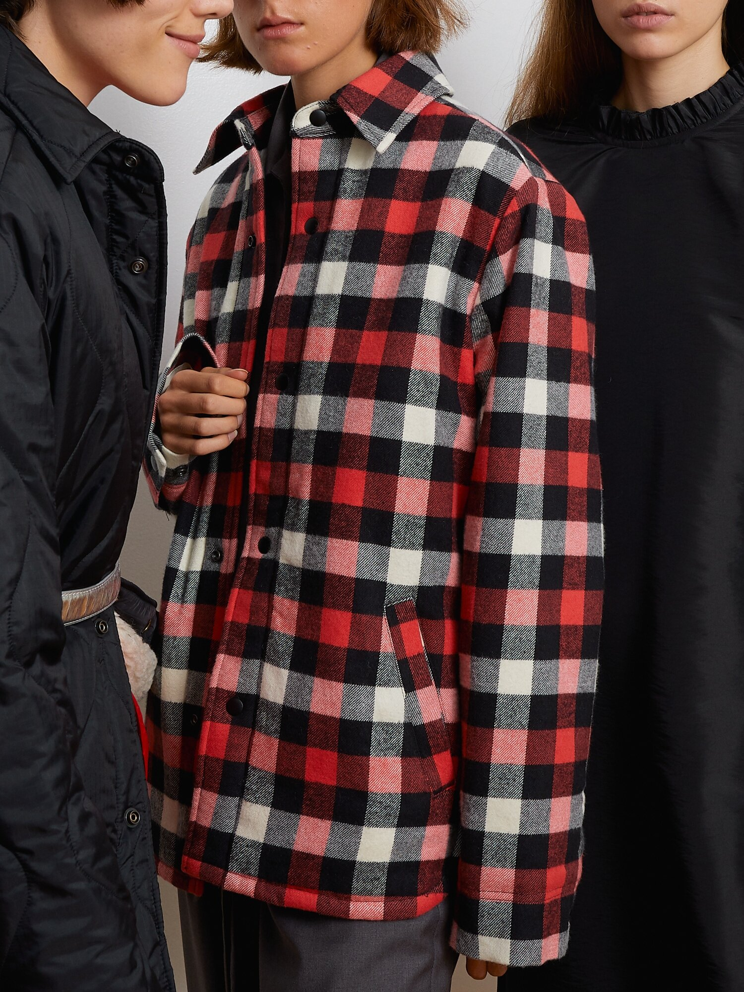 Shop Flannel Jacket With Sherpa Lining