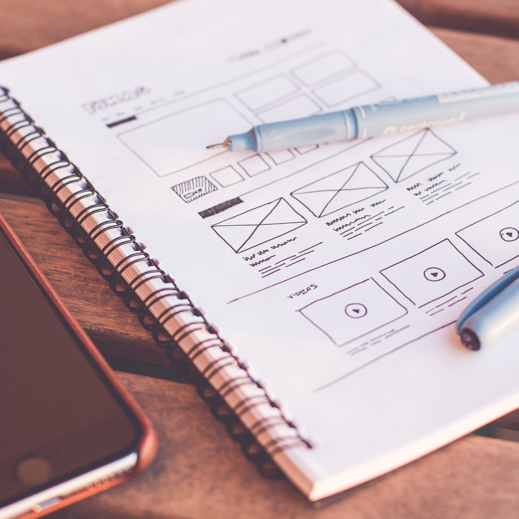 Drawing of wireframes