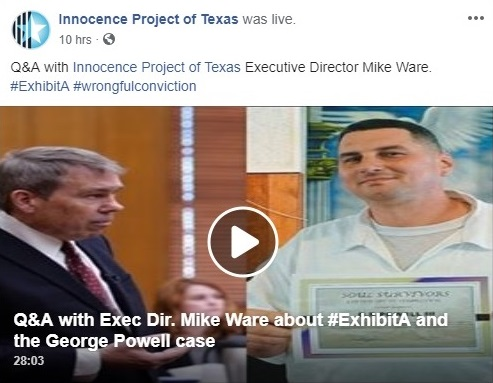 - Did you see the Facebook (Live) Q&A with Executive Director Mike Ware about George Powell 's case?