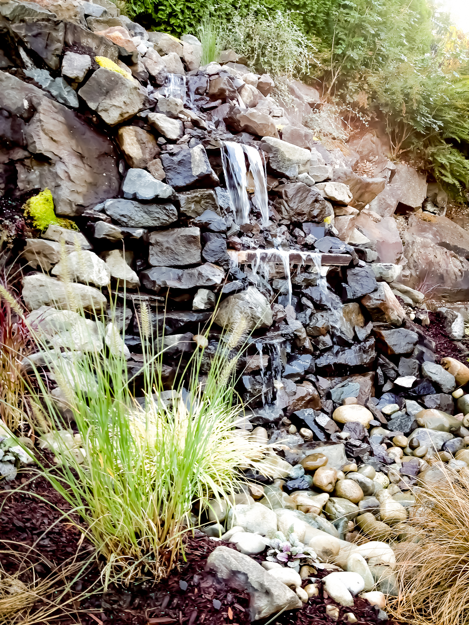 Retaining Wall Water Feature For The