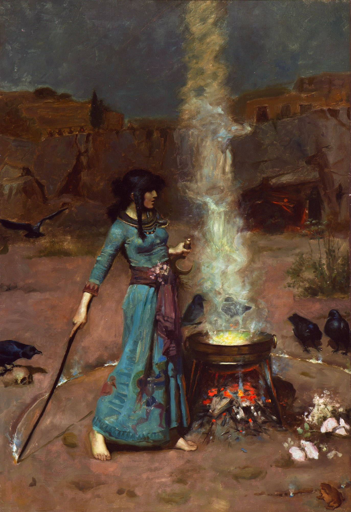"""The Magic Circle"" by John William Waterhouse 