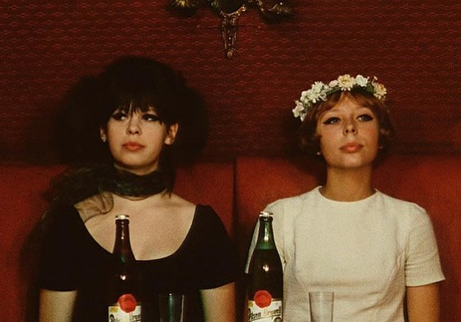 """""""I don't know what this is, but this is our whole aesthetic."""" #daisies #czechfilm #newwave #verachytilova #gingerwitches #sisterwitches"""