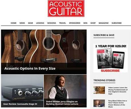 Stage DI reviewed in the December 2018 issue of Acoustic Guitar Magazine - Review by Doug Young