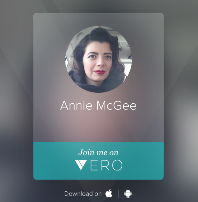 Vero's sharing card