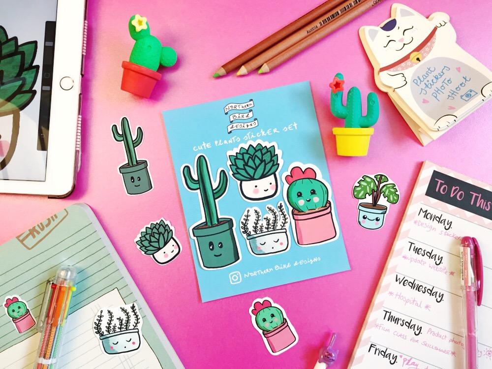cute_plant_stickers_northern_bird_designs.JPG