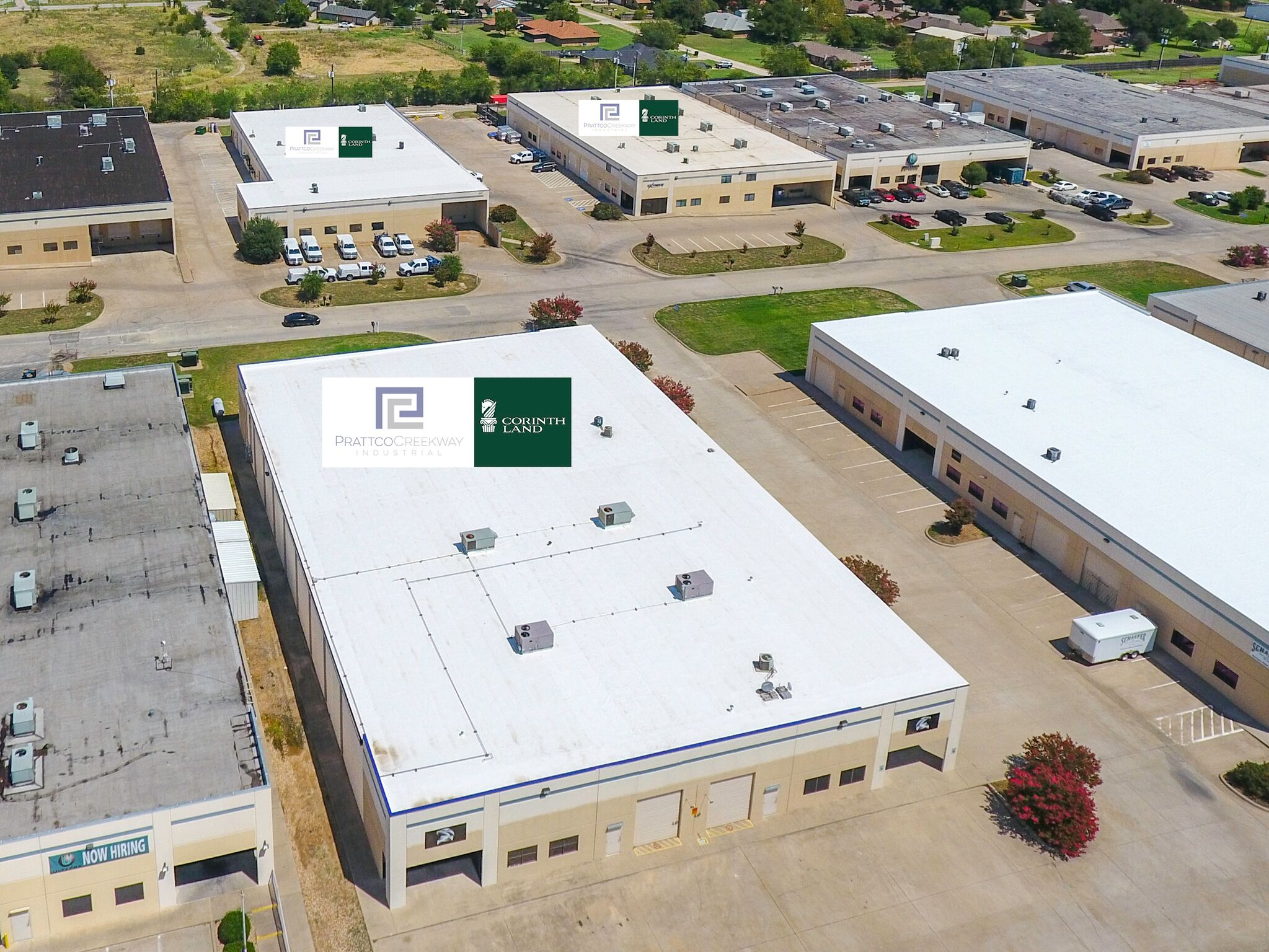 Fort Worth-Based Corinth Land Co. and Dallas-based Prattco Creekway Industrial (PCI) acquired three buildings in the IH-20 West Business Park west of Fort Worth just miles from the Walsh Ranch development. The 77,640 SF three-building business park has five tenants and is 94 percent occupied. Photo Credit: Epic Foto Group.