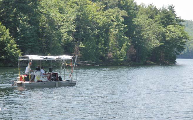 Reservoir-Approved Survey Barge -