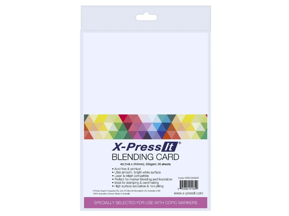 BLENDING CARD - Two different packs of 8.5