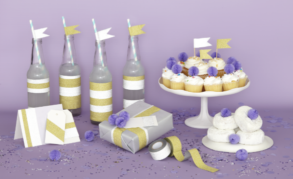 Deco Tape - Every party needs a touch of sparkle and shimmer. And beautiful cards are far prettier with glitter.