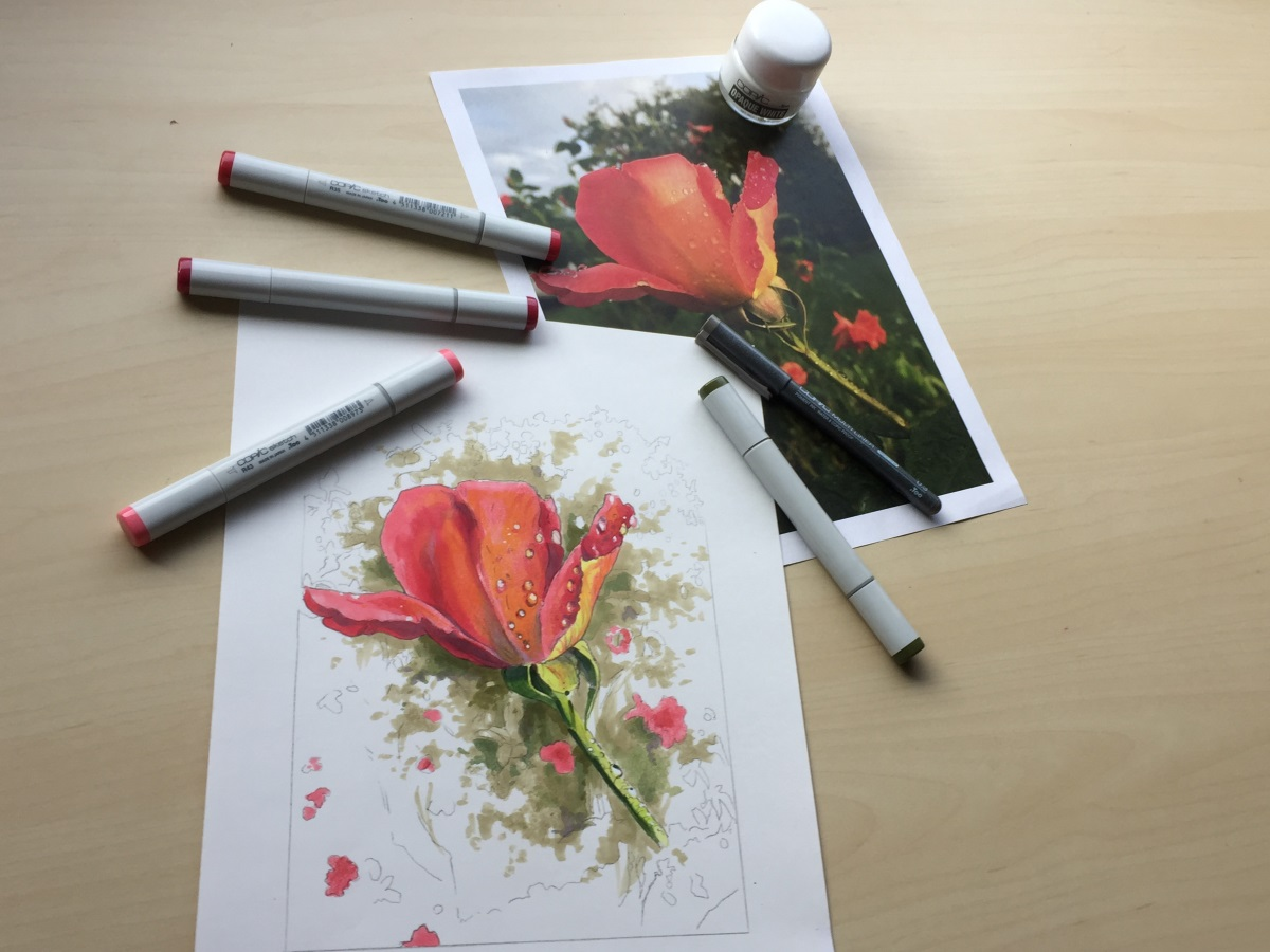 finaal result of DIY Coloring pages tutorial using transfer paper.JPG