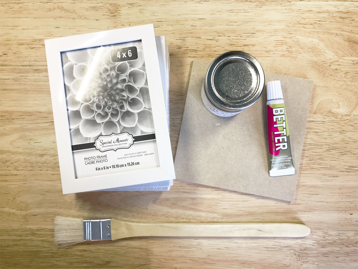 Better glue and other supplies for photo frame latern