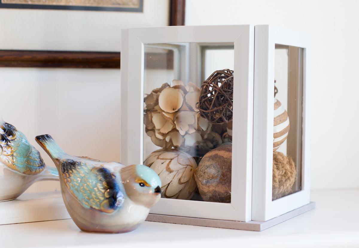 Completed Better DIY Frame Lantern