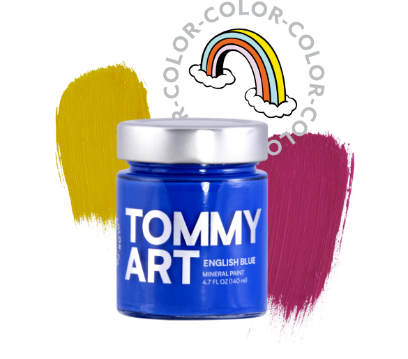 Your true colors - In all their glory. Our mineral paints come in three categories: intense, neutral, and pastel. So you can achieve the perfect color and shade for your customer's DIY masterpiece. Each paint can be mixed or layered within the Tommy Art DIY Paint System and was made for easy application. No need to prime or sand, adheres to most surfaces, and can be diluted. Mix, shake or stir before use.