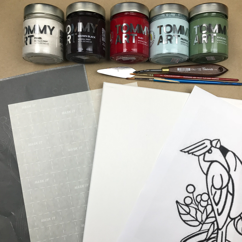 supplies for the transfer paper wall art