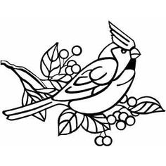 Cardinal line art used in this project.