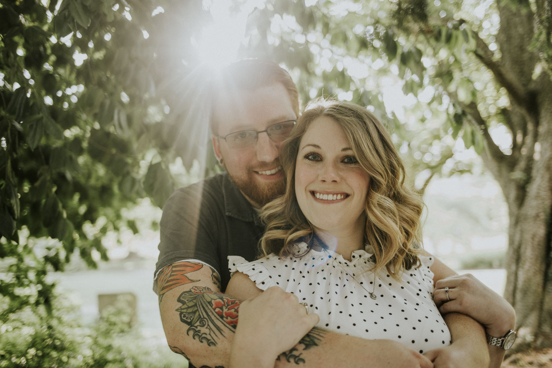 Eden Park Engagement Session Photography Overlooking the Ohio River