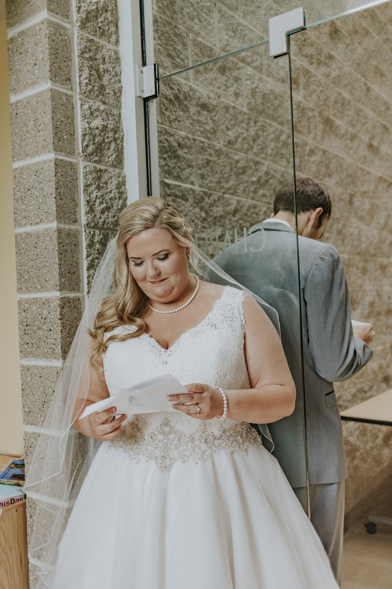 first peak- writing letter to each other on your wedding day is the BEST Kaylen and Eric's Romantic Countryside Wedding in Cincinnati, Ohio
