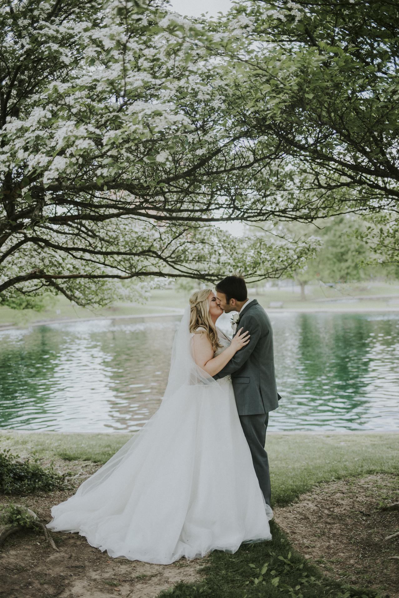 Bride and Groom Portraits Kaylen and Eric's Romantic Countryside Wedding in Cincinnati, Ohio