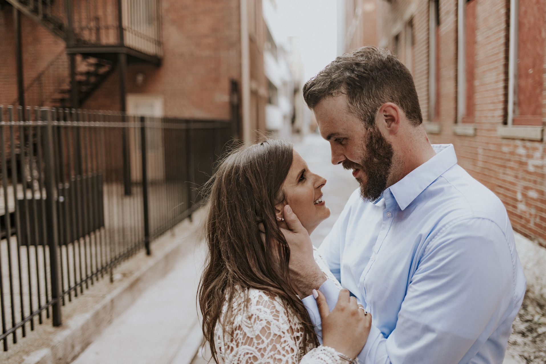 Justin and Shannon - an Over-the-Rhine Engagement session featuring Rhinegeist, Buzzed Bull, Holtmans, and Old St. Mary's Church.